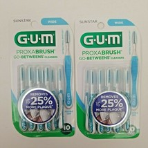 GUM Proxabrush Cleaners WIDE 10 Each ( 2 pack ) - $11.50
