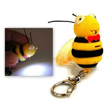 LED BEE KEYCHAIN with Light and Sound Cute Insect Buzzing Noise Key Chai... - $6.95