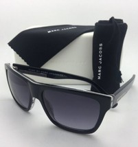 MARC By MARC JACOBS Sunglasses MMJ 441/S KVFHD Black & White Marble w/ Grey Fade