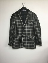 Paul Jones Plaid Suit Blazer, Small, Black & Tan. New With Tags - $21.28