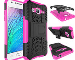 Hockproof case armor stand cover for samsung galaxy j3 hot pink p20151215074911855 thumb155 crop