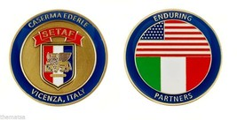 "SETAF ARMY CASERMA EDERLE VICENZA ITALY SETAF MILITARY BASE 1.75"" CHALLE... - $17.14"