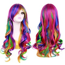 "BERON 27"" Long Wavy Rainbow Wig for Halloween Cosplay - $15.03"