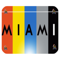 Mouse Pad The Miami Marlins Logo Rainbow American Baseball Team Sports E... - ₹291.56 INR
