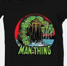 The Man-Thing T-shirt Black Bronze Age Comics comic book superhero cotton tee image 3
