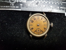 Vintage Copper Color Dial Elgin Watch Missing Hands And Glass For You To Fix - $95.00