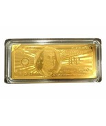 24K 99.9% Gold Plated $100 Bank Note w/Certificate/Paperweight - Nice Gi... - $12.86