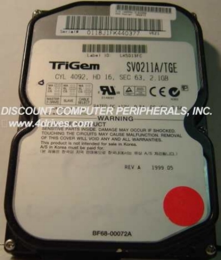 2.1GB 3.5IN 3H IDE SAMSUNG SV0211A_TGE Free USA Ship Our Drives Work