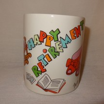 Happy Retirement Coffee Mug 12 oz Cup No One Fill Your Shoes Lefton China 1990 - $14.99