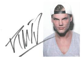 Avicii Hand-Signed Autograph 6x8 Sticker With Lifetime Guarantee - $200.00