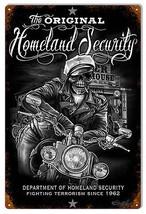 Department Of Homeland Security Garage Shop Art Sign 12×18 - $21.78