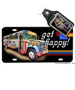 The Partridge Family Bus Come On Get Happy License Plate Opt. Matching Key Ring - $13.81 - $16.78