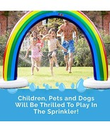 Splashin'kids Outdoor Rainbow Sprinkler Super Toddler Water Toys for Chi... - $52.72