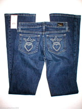 NWT Boot Dark Jeans Juicy Couture $248 24 X 32 Womens Crown Pockets New USA - $99.20