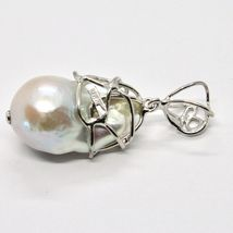 925 Silver Pendant with White Pearl FW Handcrafted Unique Pendant image 5