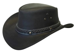NEW Conner Down Under Crushable Water Proof LEATHER  Cowboy Hat Black A1001 - €53,07 EUR