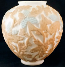 Phoenix Consolidated glass Martele Line Pinecone Two Color Glass Vase  - $39.99