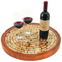 Wine Bottle Cork Holder, Wood Cork Display Tabletop Glass Wine Cork Coll... - £70.81 GBP