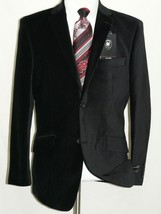 Men's Soft Cotton Velvet Blazer Jacket Two Button GIORGIO COSANI 491 Bla... - $65.99