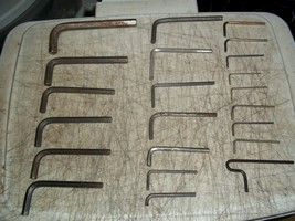 22 Pc Lot Allen Key Hex Wrench Lot L Shaped Asst Sizes See Detailed Pictures - $22.27