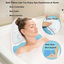 Jellyfish Shape Bath Pillow, Luxury Spa Bathtub Cushion with Upgraded Non-Slip S image 2