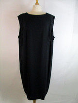 Elisabeth Liz Claiborne Black Sheath Dress Sz 24 Sleeveless Career Work - $9.46