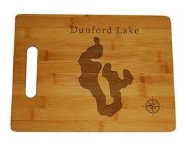 Dunford Lake Map Engraved Bamboo Cutting Board 9.75x13.75 inches Florida - $34.64