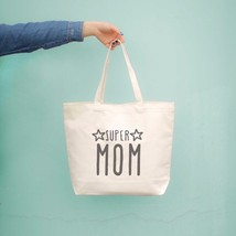 Super Mom Canvas Bag Grocery Bag Diaper bag Mothers Day Baby Shower Gifts image 2