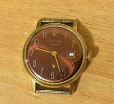 Watch Vostok Wostok AU20 17 Jewels Ussr Soviet Mechanical Gold Plated Serviced - $41.73