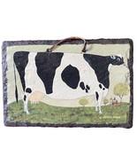 "Karen Wimble Farmhouse Cow Hanging Slate Patio Porch Terrace Garden 12""W... - $39.60"