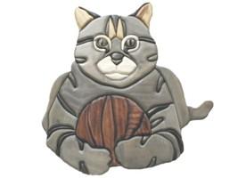 Cat - intarsia Wood Carving  - $89.95