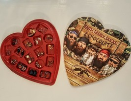 Pierced Earrings 17 Pair Vintage in Duck Dynasty Heart Shaped Valentines Day Box - $19.78