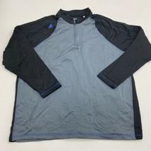 Adidas Golf Jacket Mens 2XL XXL Black Gray 1/4 Zip Climawarm Regular Fit Sports - $19.99