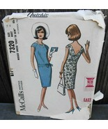 McCall's 7320 Vtg Dress w French Darts Pattern Size 16 Bust 36* - $14.00