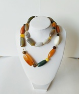 Mix Agate Gemstones Long Necklace  - $58.50