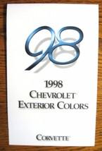 1998 Chevrolet Corvette Color  & Trim Paint Chip Brochure-  Original - $9.59