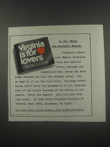 1991 Virginia Tourism Ad - p. 22: Enter the mountain empire - $14.99