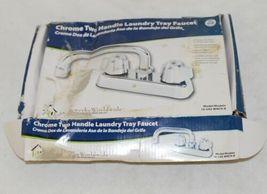 Homewerks Worldwide 16U42WNCHB Chrome Two Handle Laundry Tray Faucet image 4