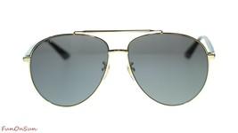 NEW Gucci Men's Sunglasses GG0043SA 002 Gold Havana/Grey Lens 61mm - $202.73