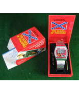 Dukes of Hazzard Watch Steel Band TESTED WORKING with NEW BATTERY INSTALLED - $24.98