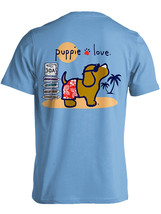 Puppie Love Rescue Dog Adult Unisex Short Sleeve Cotton Tee,Beach Pup