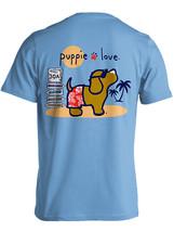 Puppie Love Rescue Dog Adult Unisex Short Sleeve Cotton Tee,Beach Pup - $19.99