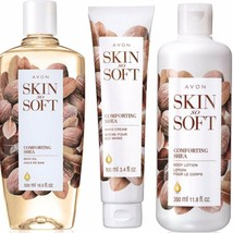 Skin So Soft Comforting Shea Bath Oil, Hand Cream and Body Lotion Set $4... - $19.80
