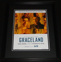 Graceland 2013 NBC 11x14 Framed ORIGINAL Advertisement Daniel Sunjata - $22.55