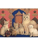 Ceaco Ivory Cats - Catkin and her Kittens Puzzle - $24.68