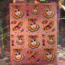 ⚡️SALE  S245 Lisa Frank Full Sticker Sheet MASKS CLOWN MARDI GRAS image 1