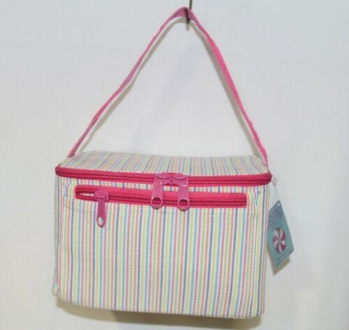 Oh Mint 1609999STRIPE Rainbow Stripe Seersucker Lunch Box