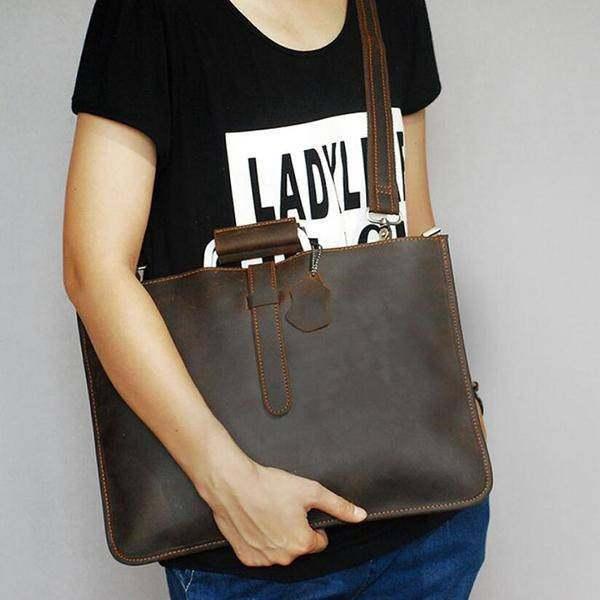 On Sale, Handmade Men Shoulder Bag,Horse Leather Men Tote, Messenger Bag image 4