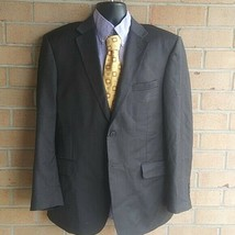 JoS A Bank mens 2btn dark gray windowpane wool sport coat jacket blazer ... - $16.73