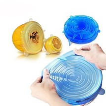 6PCS Universal Silicone Food Wrap Lid-bowl Silicone Cover Pan Kitchen Va... - $14.99